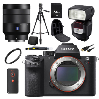 Sony Alpha a7R II Mirrorless Digital Camera + Sony Vario-Tessar T* FE 24-70mm f/4 ZA OSS Lens Accessory Kit Bundle