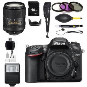 Nikon D7200 DSLR Camera + 18-300mm f/3.5-6.3G ED VR Lens Accessory Kit Bundle