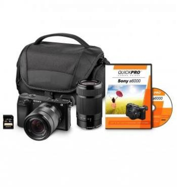 Sony Alpha a6000/ILCE-6000L Mirrorless Digital Camera with Twin Lens Bundle