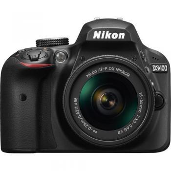 Nikon D3400 DSLR Camera with 18-55mm VR Lens (Black)