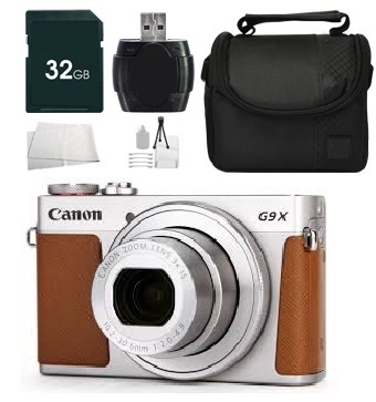 Canon PowerShot G9 X Digital Camera (Silver) + Bundle