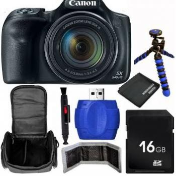 Canon PowerShot SX540 HS Digital Camera + Bundle (Black)
