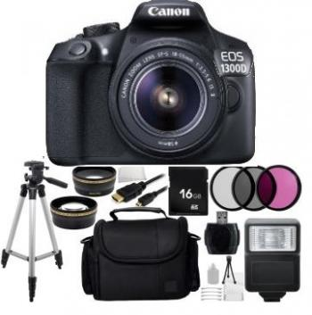 Canon EOS 1300D/T6 DSLR Camera with 18-55mm Lens + Bundle Kit