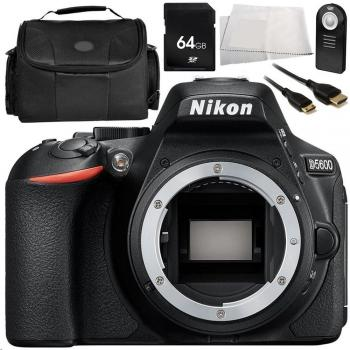 Nikon D5600 DSLR Camera (Body Only) 9PC Accessory Bundle