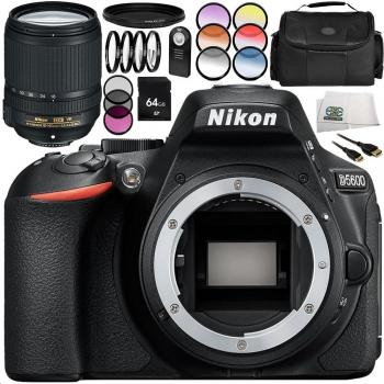 Nikon D5600 DSLR Camera with Nikon AF-S DX NIKKOR 18-140mm f/3.5-5.6G ED VR Lens 14PC Accessory Bundle