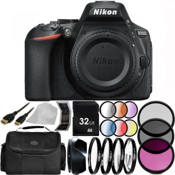 Nikon D5600 DSLR Camera (Body Only) 32GB Basic Package