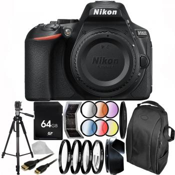 Nikon D5600 DSLR Camera (Body Only) 64GB Advanced Bundle