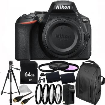 Nikon D5600 DSLR Camera (Body Only) 64GB Advanced Bundle With 2 Extra Batteries