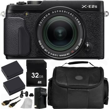 Fujifilm X-E2S Mirrorless Digital Camera with 18-55mm Lens (Black) with Accessory Bundle
