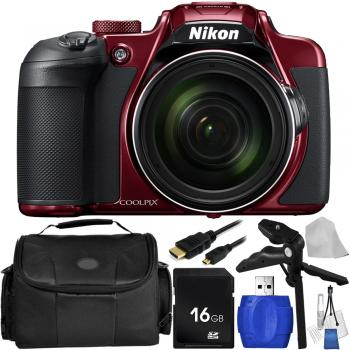 Nikon COOLPIX B700 Digital Camera (Red) with Accessory Bundle
