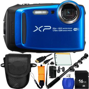 Fujifilm FinePix XP120 Digital Camera (Blue) Bundle