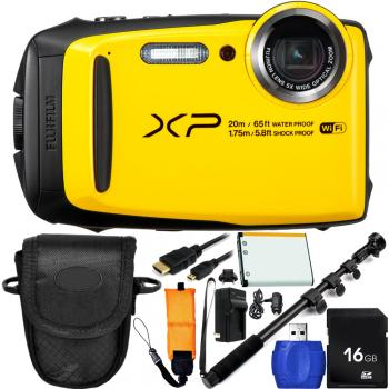 Fujifilm FinePix XP120 Digital Camera (Yellow) Bundle