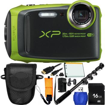Fujifilm FinePix XP120 Digital Camera (Lime) Bundle