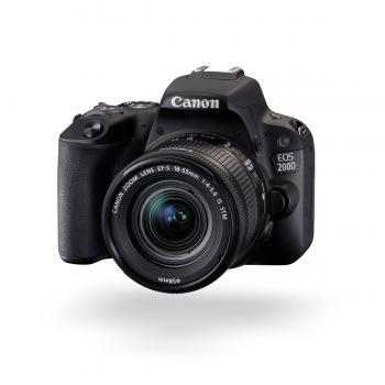 Canon EOS 200D/Rebel SL2 DSLR Camera with 18-55mm Lens (Black)