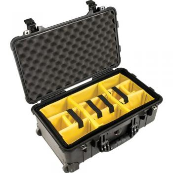 Pelican 1510 Carry On Case with Yellow and Black Divider