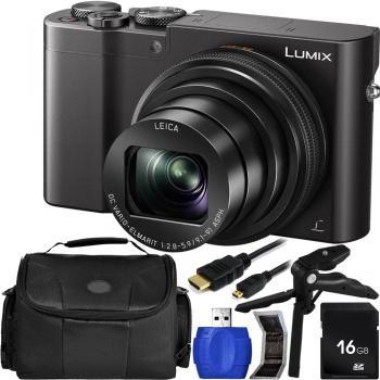 Panasonic Lumix DMC-ZS100/TZ100/TZ110 Digital Camera (Black) with Acce
