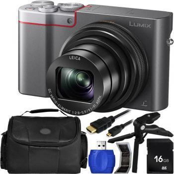 Panasonic Lumix DMC-ZS100/TZ100/TZ110 Digital Camera (Silver) with Acc