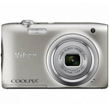 Nikon Coolpix A100 Compact Digital Camera (Silver)