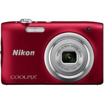 Nikon Coolpix A100 Compact Digital Camera (Red)