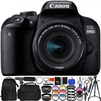 Canon EOS Rebel T7i/800D DSLR Camera with 18-55mm Lens - Pro Bundle