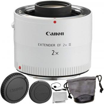 Canon Extender EF 2X III with 2PC Accessory Bundle