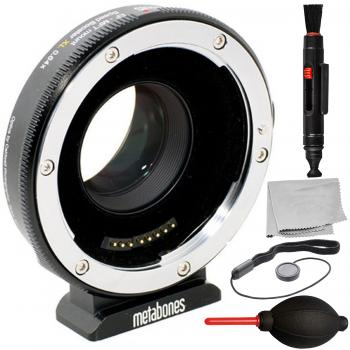 Metabones T Speed Booster Ultra 0.71x Adapter for Canon Full-Frame EF-Mount Lens to Micro Four Thirds-Mount Camera with 4PC Accessory Bundle