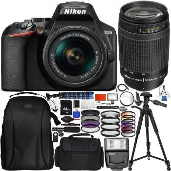 Nikon D3500 DSLR Camera with 18-55mm Lens AF Zoom Nikkor 70-300mm f4-5