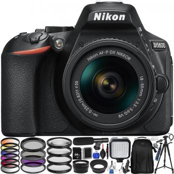 Nikon D5600 DSLR Camera with 18-55mm Lens with Accessory Bundle