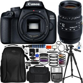 Canon EOS 4000D with Sigma 70-300mm f/4-5.6 DG Macro Lens for Canon EO