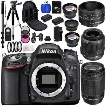 Nikon D7200 Digital SLR Camera With AF-S DX NIKKOR 18-55mm 1:3.5-5.6 VR Accessory Bundle