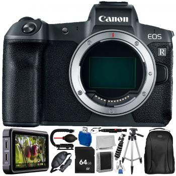 Canon EOS-R (Body Only) and Atomos Ninja V with 13 PC Accessory Bundle