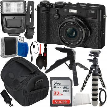 FUJIFILM X100F Digital Camera (Black) with Accessory Bundle