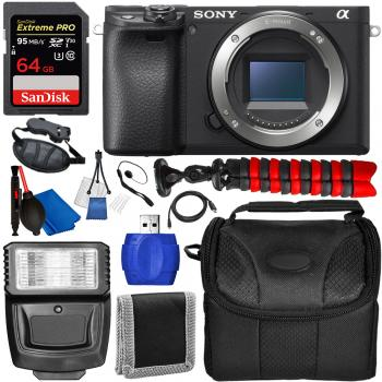 Sony Alpha a6400 Mirrorless Digital Camera (Body Only) with Essential Accessory Bundle
