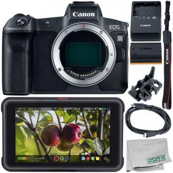 Canon EOS R Mirrorless Digital Camera (Body Only) with Atomos Ninja V 5