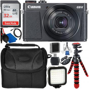 Canon PowerShot G9 X Mark II Digital Camera (Black) with Starter Accessory Bundle