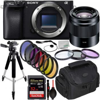 Sony Alpha a6400 Mirrorless Digital Camera with Sony 50mm Lens & Essential Accessory Bundle