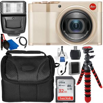 Leica C-Lux Digital Camera (Light Gold) with Accessory Bundle
