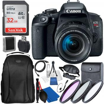 Canon EOS Rebel T7i DSLR Camera with 18-55mm Lens with Accessory Bundle