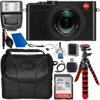 Leica D-LUX (Typ 109) Digital Camera (Black) with Accessory Bundle