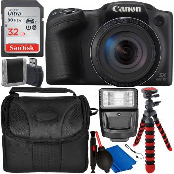 Canon PowerShot SX420 IS Digital Camera (Black) with Accessory Bundle