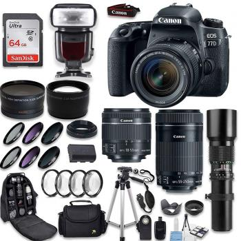 Canon EOS 77D DSLR Camera with Canon 18-55mm IS STM Lens Canon EF-S 55