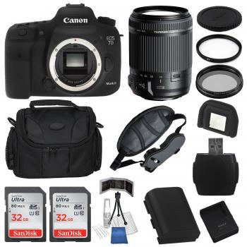 Canon EOS 7D Mark II DSLR Camera Body with Tamron 18-200mm f/3.5-6.3 Di II VC Lens and Accessory Bundle