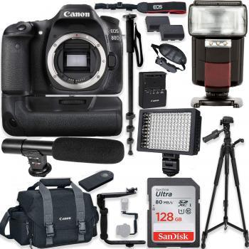 Canon EOS 80D DSLR Body Accessory Bundle