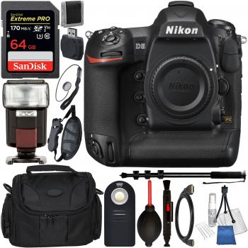 Nikon D5 DSLR Camera (Body Only Dual CF Slots) and Accessory Bundle