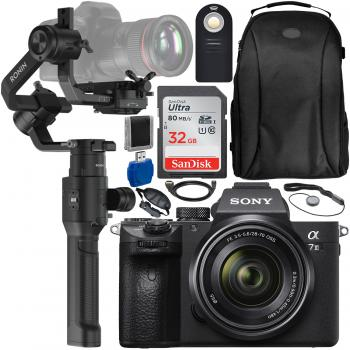 Sony Alpha a7 III Mirrorless Digital Camera with 28-70mm Lens, DJI Ronin-S and Accessory Bundle