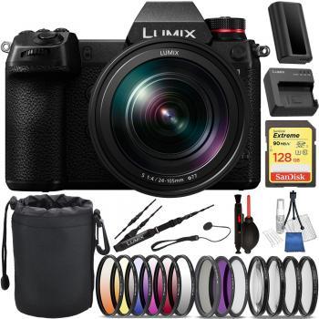 Panasonic Lumix DC-S1 Mirrorless Digital Camera with 24-105mm Lens - D