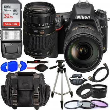 Nikon D750 DSLR Camera with 24-120mm Lens - 1549 and Accessory Bundle