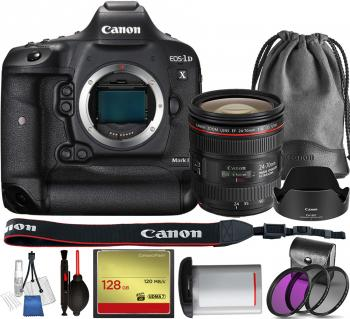 Canon EOS-1D X Mark II DSLR Camera - 0931C002 with Canon EF 24-70mm f/