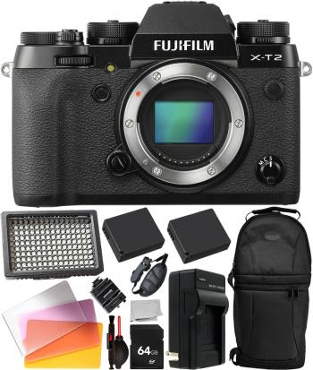 FUJIFILM X-T2 Mirrorless Digital Camera Body -16519247 with Starter Bu