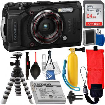 Olympus Tough TG-6 Digital Camera (Black) - V104210BU000 with Essentia